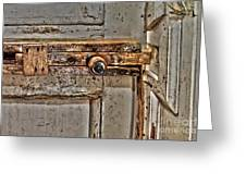 Door Latch Greeting Card