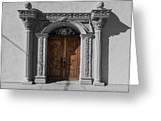 Doorway Of The Santa Teresa De Jesus Church Greeting Card