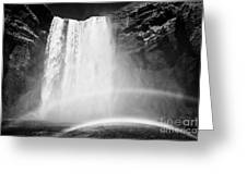 Double Rainbow At Skogafoss Waterfall In Iceland Greeting Card