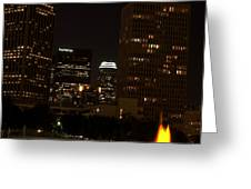 Downtown L.a. In Hdr Greeting Card