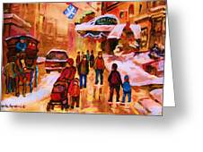 Downtown Montreal Greeting Card