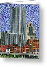 Downtown Pittsburgh - View From Smithfield Street Bridge Greeting Card
