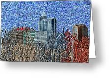 Downtown Raleigh - View From Chavis Park Greeting Card