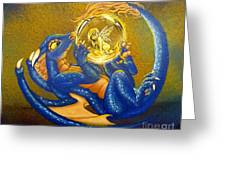 Dragon And Captured Fairy Greeting Card