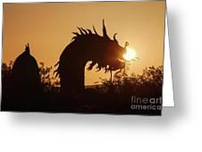 Dragon At Dawn Greeting Card