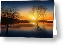 Dramatic Landscape Greeting Card