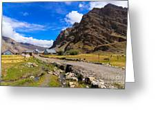 Drass Village Kargil Ladakh Jammu And Kashmir India Greeting Card