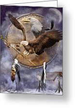 Dream Catcher - Spirit Eagle 2 Greeting Card
