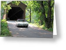 Driving In Style Greeting Card