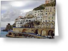 Driving The Amalfi Coast In Italy Greeting Card