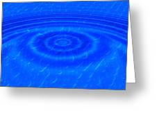 Drop Of Blue Greeting Card