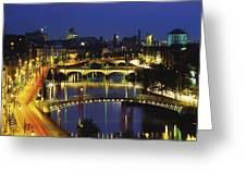 Dublin, Co Dublin, Ireland View Of The Greeting Card