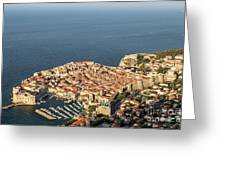 Dubrovnik And The Adriatic Coast In Croatia Greeting Card