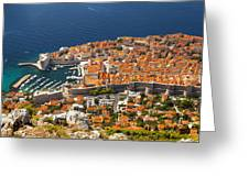 Dubrovnik Old Town From Above Greeting Card