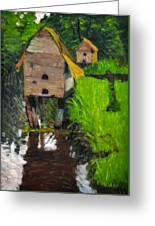 Duck Houses Greeting Card
