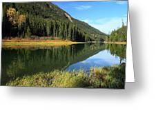 Duffey Lake Reflection In Autumn Greeting Card