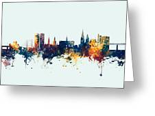 Dundee Scotland Skyline Greeting Card