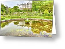 Dunrobin Castle Reflected Greeting Card