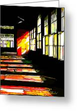 Dusk At The Factory Greeting Card