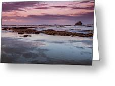 Dusk In Puerto Viejo Greeting Card