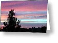 Early Evening Sky Greeting Card