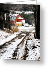 Early Winter Barn Greeting Card