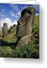 Easter Island Moai Greeting Card