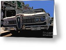 Edsel On Route 66 Greeting Card
