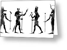 Egyptian Gods Greeting Card
