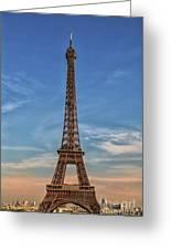 Eiffel Tower In France Greeting Card