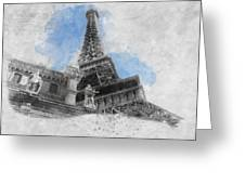 Eiffel Tower Of Paris Greeting Card