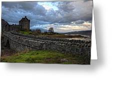 Eilean Donan Castle In The Morning Light Greeting Card