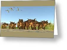 Einiosaurus Dinosaurs Greeting Card