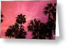 Electrified Palms Greeting Card