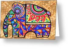 Elephant Greeting Card by Samadhi Rajakarunanayake