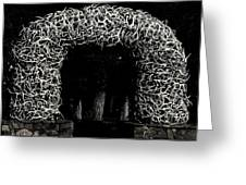 Elk Antlers Gate Jackson Hole Wy Greeting Card by Christine Till
