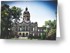 Elkhart County Courthouse - Goshen, Indiana Greeting Card