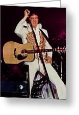 Elvis In Concert Greeting Card