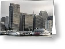 Embarcadero Center Buildings In San Francisco, California Greeting Card