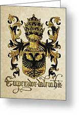 Emperor Of Germany Coat Of Arms - Livro Do Armeiro-mor Greeting Card by Serge Averbukh