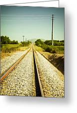 Empty Railway Greeting Card