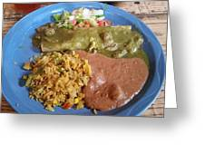 Enchilada Entree'  Greeting Card