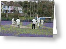 England Club Cricket Greeting Card