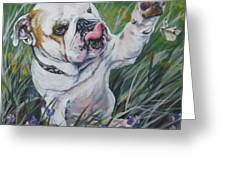 English Bulldog Greeting Card by Lee Ann Shepard