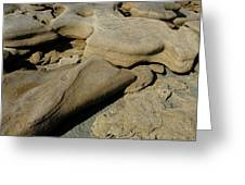 Eroded Beach Rocks. Greeting Card