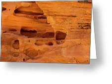 Eroded Sandstone Valley Of Fire Greeting Card