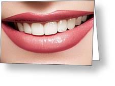 Esthetics Of Smile  Dental Veneers Vs Orthodontic Treatment Greeting Card