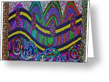 Ethnic Wedding Decorations Abstract Usring Fabrics Ribbons Graphic Elements Greeting Card