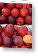 European Markets - Nectarines Greeting Card