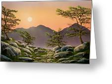Evening Moonrise Greeting Card